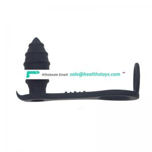 Male anal plug backcourt silicone thread anal straight for adult sex products