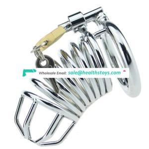 Metal stainless steel male chastity device cage for men