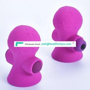 Mini Clitoral Suction Massage Vibrator Clitoris Breast Nipple Sucking Stimulator Nipple Clamp Vibrator Sex Toys for Couple