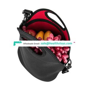 Most popular custom made neoprene lunch bag with strap