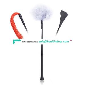 NEW ARRIVAL! Removable Three-in-one Bondage Feather Tickler, Crop Paddle, Whip in One Piece High Pleasure Sex Toys