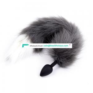 NEW Soft Fox Tail Silicone Butt Plug Flirting Love Anal Plug Ass Masturbation Device