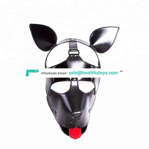New Arrival Leather Dog Hood Bondage Restraint Sex Toys Eye Mask Head Hood