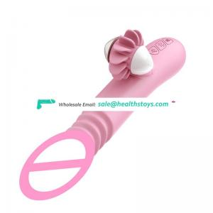New waterproof Silica gel Vibrator penis Tongue for woman and man