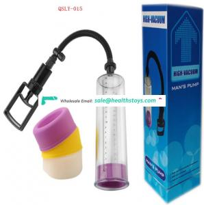 Penis pump enlargement  Vacuum Pussy Cup Penis Pump For Male Masturbation   Penis Enlargement Pussy Vacuum Pump by pressure ball