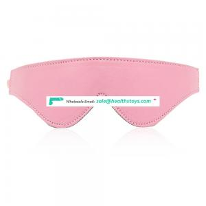 Pink Leather Warm Soft Furry Glasses Eye Mask