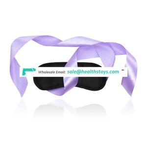 Purple Belt Satin Black Shading Sleep Blindfold Eye Mask