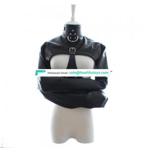 Queen PU Leather Sexy Open Big Breast Harness Hands Bondage Restraint Lingerie