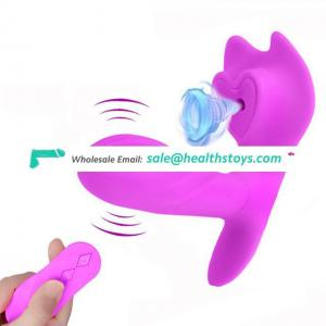 Rechargeable Vibrating Panties Strapon Dildo G Spot Vibrator Sucking Clitoral Stimulator Wireless Remote Sex Toys for Women