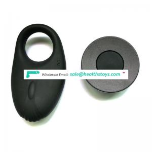 Rechargeable liquid all-inclusive silicone remote control waterproof vibration silicone lock penis  penis ring skeleton design v