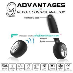 Remote control anal plug vibrator sex toys for man/women