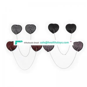 Sexy Beauty Diamond Decorative Heart Shape Nipple Cover Breast Cover For Girl Ladies Women Show Sexy