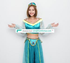 Sexy Blue Gauze Ethnic Style Costume
