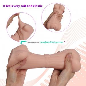 Sexy Women Body Shape Male Handheld Sexy Masturators 3d Silicone Pussy Artificial Vagina Massager