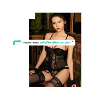 Sexy lingerie, steel support cotton pad slim waistcoat sexy suit back can be adjusted sexy pajamas