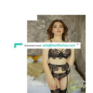 Sexy lingerie lace bikini see-through three-point seduction suit