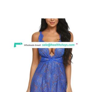 Sexy one-piece halter lace nightclub stage outfit nightdress sexy lingerie set temptation
