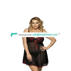 Sexy underwear Manufacturer wholesale sleeping skirt lace large size sleeping skirt