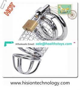 Silver Metal Steel Chastity for Male Cock Cage