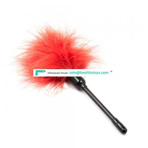 Simple Rubber Handle Set Flirting Sex Toys Feather Tickler