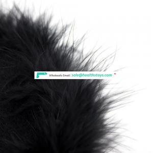 Soft Feather Black Furry Blindfold Sleeping Personalized Eye Mask