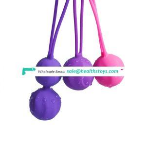 Soft silicone kegel ben wa balls sex toy for women