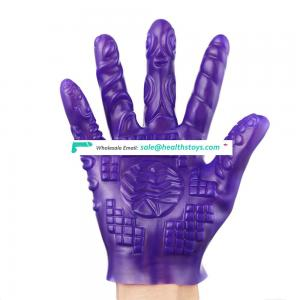 Sot PVC Pattern Different Design A B Style Choice Flirting Massage Masturbation Glove