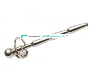 Stainless Steel Penis Sound Bondage Sex Toys Urethral Sound with Ring for Men