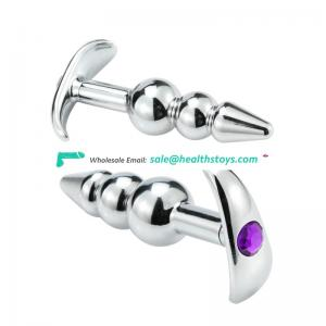 Stainless Steel silver large butt anal plug for adult man/female sexy toys