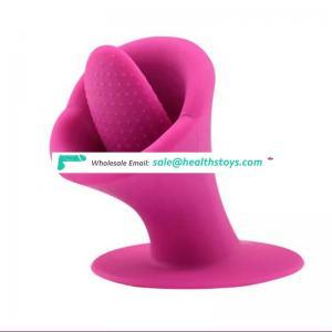 USB Charge Suck & Lick Tongue Vibrator 10 Modes Sex Toys For Women Masturbator Nipple Clitoris Stimulator with Remote Control