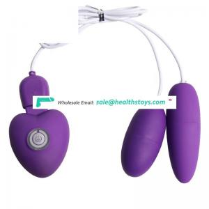 USB rechargeable vibrating bullet love egg for couple sex toy