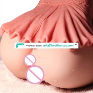 Vibrating Woman Pussy vagina Big Fat Ass Boobs half body silicone sex Dolls Anal Sex Toy for Men  Male Masturbators sex YL-B70