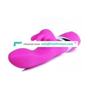 Waterproof Silicone Rechargeable Female Double Motors Rampant Electronic Soft Toy Rabbit