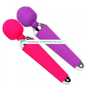 Wholesale Private Label Rechargeable Body-Safe Silicone Cordless Massager Sex Magic Wand Toy