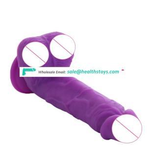 Wholesale Soft Silicone Private Label Female Vibrator Toys Thrust Realistic Dildo Vibrating