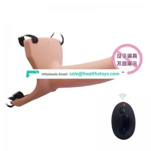 12 Years Factory Low Price Remote Control Silicone Vibrating Male Sleeve Dildo Condom
