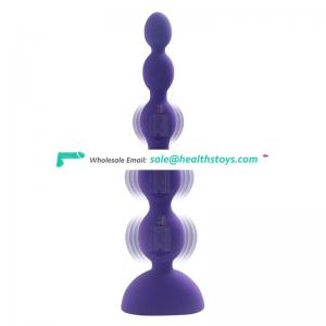 12 Years Factory Quality Waterproof Vibration Massager Homemade Silicone Beads Anal Toy