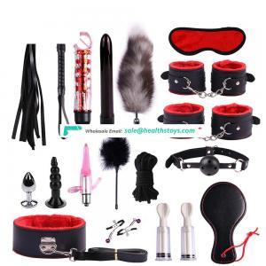 17 Pieces Adult Bondage Kit Set Leather Bondage Sex Toy for  Couple SM