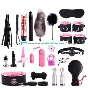 20 Pieces Adult Bondage Kit Set Leather Bondage Sex Toy for  Couple SM