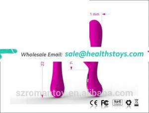 2016 Soft Luxury 10 Speeds Female Vagina Vibrator 360 Degree Rotate Silicone Vibrator
