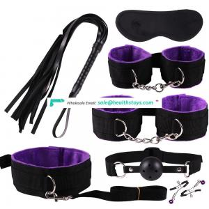 2019 Adult SM Play Game Sex Toys 7 Pieces Bondage Sets for Couple BDSM Cheap Price