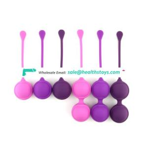 2019 Food Grade Silicone Exercise Weights Ben Wa Kegel Balls Weighted Exercise 6PCS Kit for Beginners