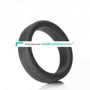 2019 Hot Food Grade Silicone Black Big Cork Delay Ring For Male Sex Toy For Adult Sex Toys
