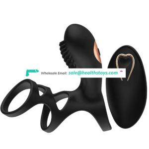 2019 Newest Low Price Silicone Remote Control Cork Ring Dick Ring Vibrating Men Sex Toys