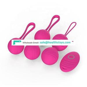 3 Kits Remote Control Medical Silicone Vibrating Smart Ball Sex Toys Women Exercise Vaginal Step By Step