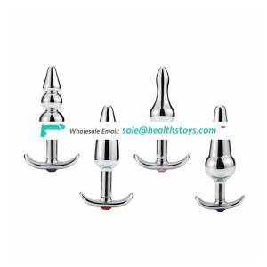 4 tpye metal anal plugs for women vagina butt plug sex toys