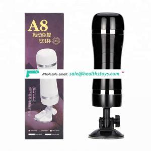 A8 Second Generation Vibration Suction Masturbation Cup Low Price Sex Toy For Men Vibrator