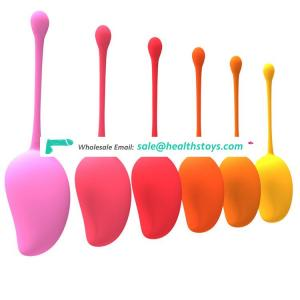 Adult product beautiful mango shape design waterproof kegel vagina balls women