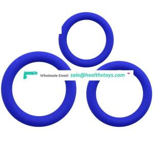 Amazon Hotselling Silicone Penis Enlargement Cock Ring Set for Men