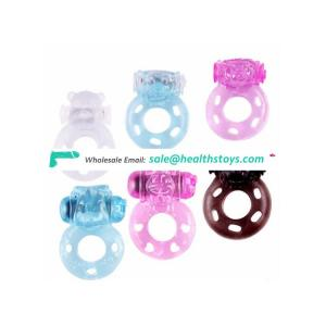 Animal shape of bear and lion penis lock rings for male sex toys